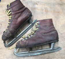 Antique Ice Skates Skating Made In Melbourne By J.Moloney Vintage Boots /Snow