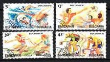 JO été Bulgarie (4) série complète de 4 timbres oblitérés