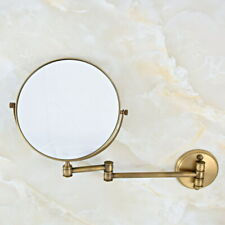 Antique Brass Bathroom Shaving Beauty Makeup Magnify Mirror Dual Side fba635