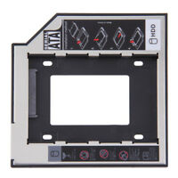 "2.5"" to 3.5""  9.5/12.7mm SATA 2nd SSD HDD Hard Drive Caddy for DVD-ROM CD ZJ7a"