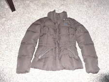 ABERCROMBIE GIRLS S SMALL BROWN WINTER COAT DOWN FEATHER