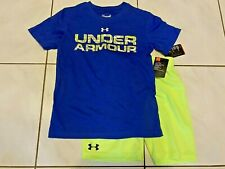 New UNDER ARMOUR SHORTS + UNDER ARMOUR SHIRT 2pc Boys Size 6
