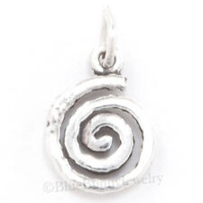 NATIVE SWIRL SPIRAL SOUTH WEST wind Jewelry Charm Pendant STERLING SILVER small