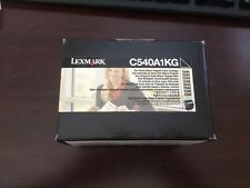 BNIB Authentic Lexmark C540A1KG Toner, 1000 Page-Yield, Black
