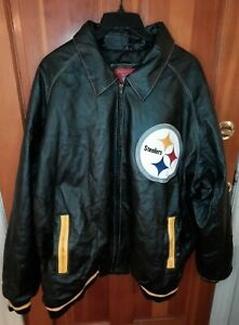 Vintage G-III Carl Banks NFL Pittsburgh Steelers Men's Leather Jacket  Size 5XL