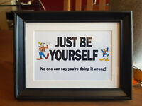 Just Be Yourself print in frame