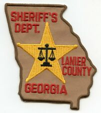 LANIER COUNTY GEORGIA GA State Shape Shaped SHERIFF POLICE PATCH