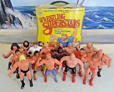 """HUGE Lot: 15 Vintage 1980s LJN 8"""" Figures WWF WRESTLING SUPERSTARS w/Case RARE"""