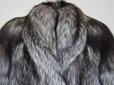 J16 new design 100% real  saga silver fox fur coat