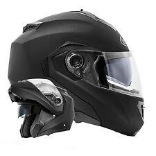 B-Ware Montreal Schwarz matt Klapphelm Motorradhelm Doppelvisier Helm