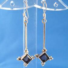 Smoky Quartz .925 Sterling Silver Earrings Handmade Nepal Artisan