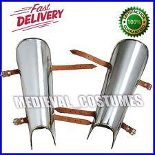 Essential Steel Plate Greaves Set Leg & Shin Armor Medieval Knight 18G