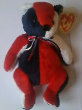 ty beanie babies retired collection 2002 bear patriot - beanie babie collection