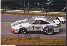 PORSCHE 935 MARTINI NURBURGRING 1000KM 1976 MANFRED SCHURTI HAND SIGNED PHOTO