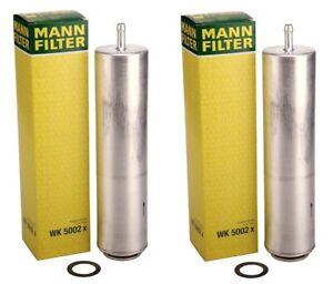 OEM Mann Pair Set of 2 Fuel Filters For BMW E70 F10 535d xDrive X5 3.0 L6 Diesel