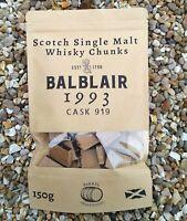 BALBLAIR 1993 Single Malt Whisky Barrel Chunks Home Brew Spirits BBQ Oak Flavour