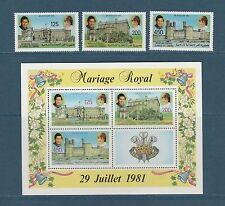 Comores république  mariage Charles et Diana   1981 poste  et BF  **