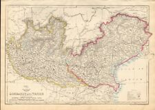 1863  LARGE ANTIQUE MAP - DISPATCH ATLAS- LOMBARDY AND VENICE