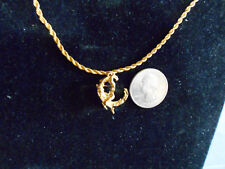 bling gold plated adult nude women riding moon pendant charm necklace jewelry gp