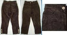 Lange Damen-Lederhosen im Trachtenhose-Stil
