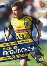 ✺Signed✺ 2013 2014 CENTRAL COAST MARINERS A-League Card MICHAEL MCGLINCHEY