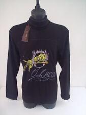 T-shirt Roberto Cavalli, dolce vita,tigre che salta,colore nero,tg 50