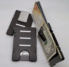 Aluminum Wallet/Credit Card Holder, RFID protection, Made in the U.S.A. Black