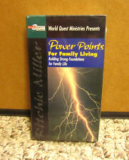 RITCHIE MILLER faith Power Points for Family Living VHS new Christian NWT values