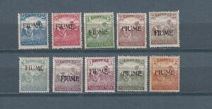 FIUME 1918, Sc# 3-11, 21-23a, Nature, Work, Manual labor, CV $62, MH