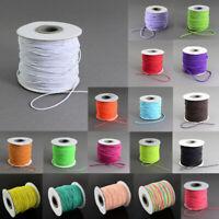 100M/roll 1mm Round Elastic Cord Nylon Rubber String Thread Beading Macrame DIY