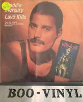 "FREDDIE MERCURY Love Kills / GIORGIO MORODER Robot Dance 7"" Vinyl 1984 VG+"