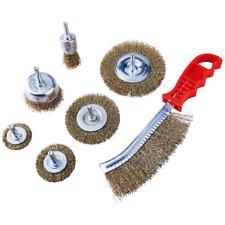 Heavy Duty 7PC Drill Draht Rad Tasse Flach Pinsel Metall Reinigung Rost Schleifen Set