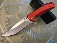 "Gerber Index Flipper Open Tactical Pocket Knife Red 1910117A 5Cr15MoV 8"" Op New"