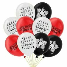 """10 X 12"""" COLOURED STRANGER THINGS Themed Latex Printed Balloons Birthday PARTY"""