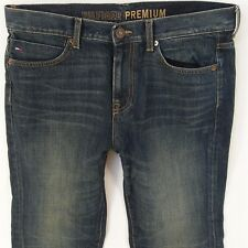 Para Hombre Tommy Hilfiger Recto Clásico Recto Blue Jeans W33 L30