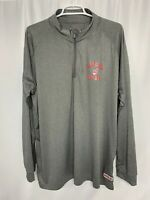 Cleveland Indians Quarter Zip Pullover Long Sleeve Shirt Gray MLB Men's XL