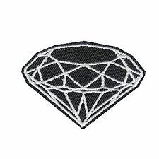 Black Diamond DIY Iron on Embroidered Applique Patch