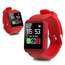 Red Bluetooth Smart Wrist Watch Phone Mate For Android IOS Samsung iPhone
