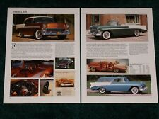 ★1956 CHEVY BEL AIR SPEC SHEET 56 CHEVROLET BELAIR SPORT COUPE CONVERTIBLE WAGON