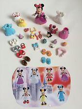 Disney Polly Pocket Princess MINNIE MOUSE Shoes Clothes Hats Lot Dresses