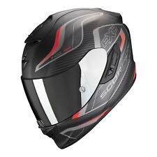 SCORPION EXO-1400 AIR ATTUNE BLACK RED MOTO FIBRE ECRAN SOLAIRE SPORT