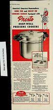 1948 Presto Deep Well Pressure Cookers Kitchen Vintage Print Ad 4181