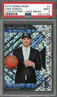 Luka Doncic Rookie Card 2018-19 Panini Prizm Luck/Lottery Fast Break #3 PSA 9
