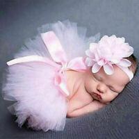 Newborn BabyGirl Crochet Knit Skirt Costume Photography Photo Prop Outfits E1A1