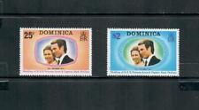 DOMINICA  1973 ROYAL WEDDING SET MNH