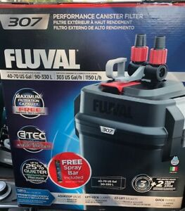 NEW Fluval 307 Performance Canister Filter For 40-70 Gallon Aquarium