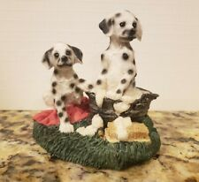 YOUNGS Collectables DALMATIAN DOGS Bathing In A Washtub Figurine #31518