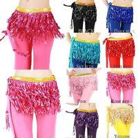 Plus Size Belly Dance 3 layers Tassels Hip Scarf fringe Wrap Hawaiian Hula Skirt