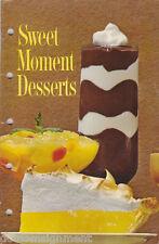 General Foods SWEET MOMENT DESSERTS Cookbook Vintage 1963