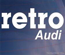 RETRO AUDI Novelty Classic Vintage Car/Window/Bumper Vinyl Sticker/Decal